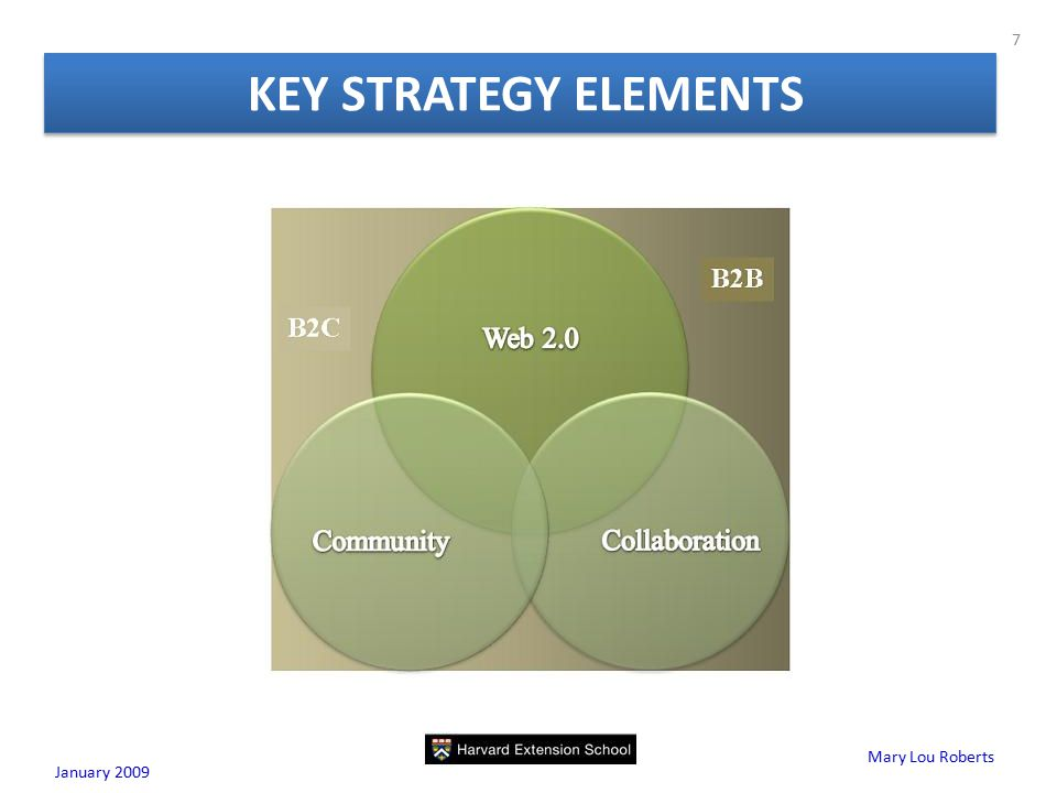 Mary Lou Roberts KEY STRATEGY ELEMENTS January