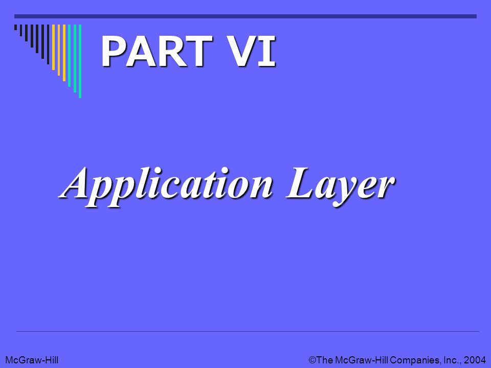 McGraw-Hill©The McGraw-Hill Companies, Inc., 2004 Application Layer PART VI