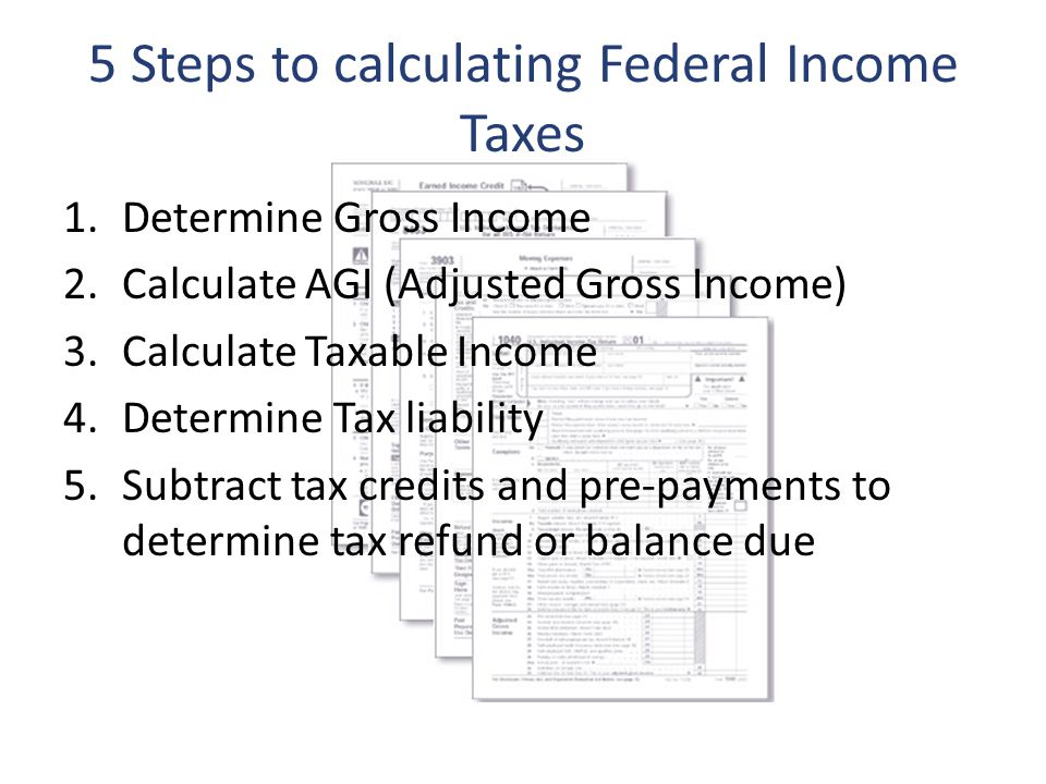 Calculate Taxable Income 4 Determine Tax Liability 5 Subtract Credits And Pre Payments To Refund Or Balance Due