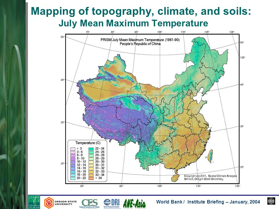 World bank institute briefing january 2004 investigators david 21 world bank institute briefing january 2004 mapping of topography climate and soils july mean maximum temperature freerunsca Image collections