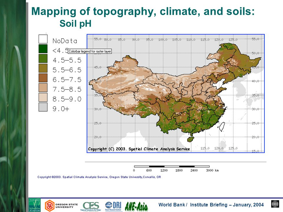World bank institute briefing january 2004 investigators david 23 world bank institute briefing january 2004 mapping of topography climate and soils soil ph freerunsca Image collections