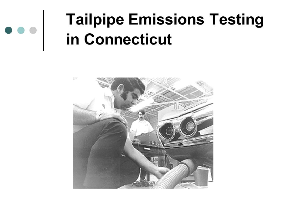 Tailpipe Emissions Testing in Connecticut