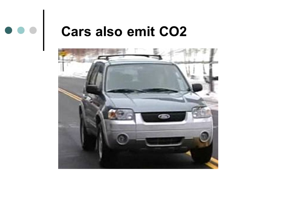 Cars also emit CO2