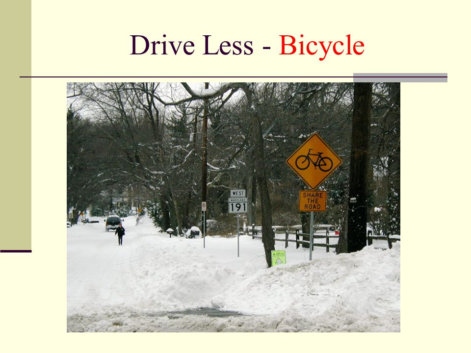 Drive Less - Bicycle