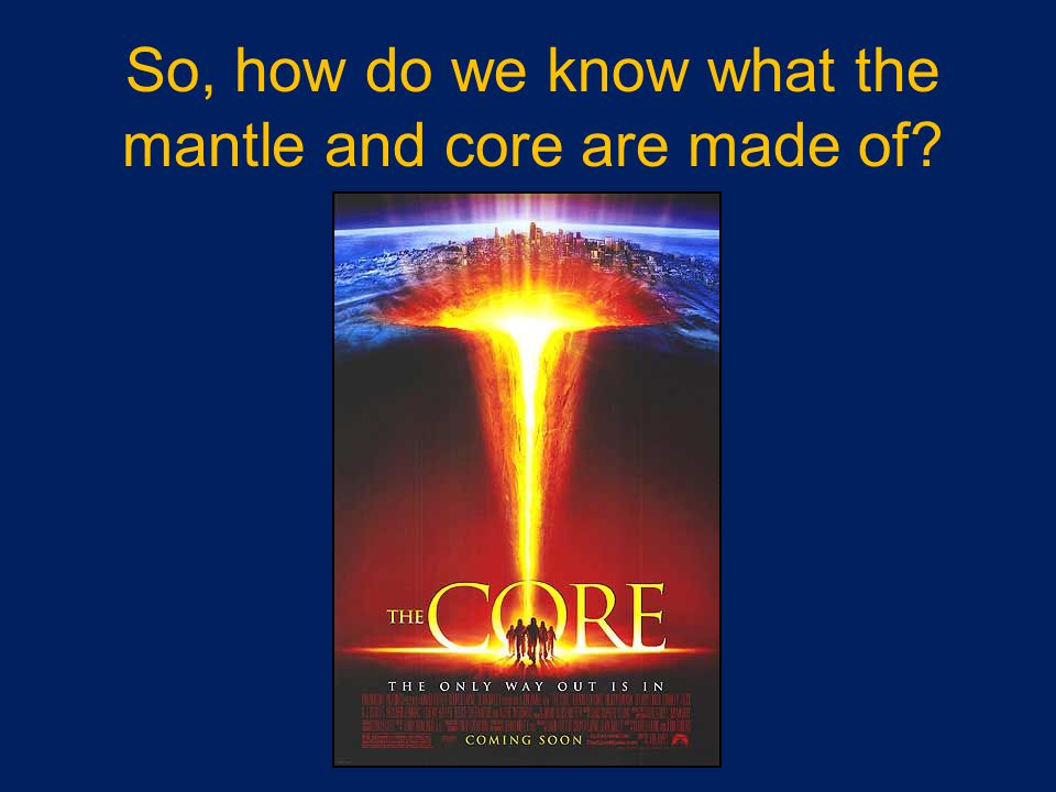 So, how do we know what the mantle and core are made of