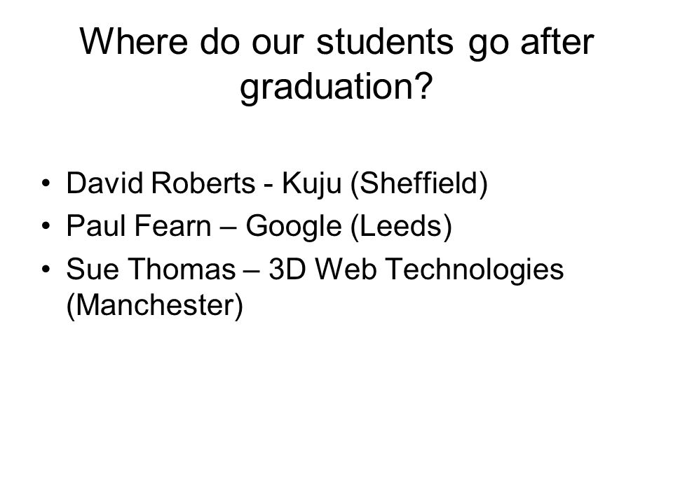 Where do our students go after graduation.