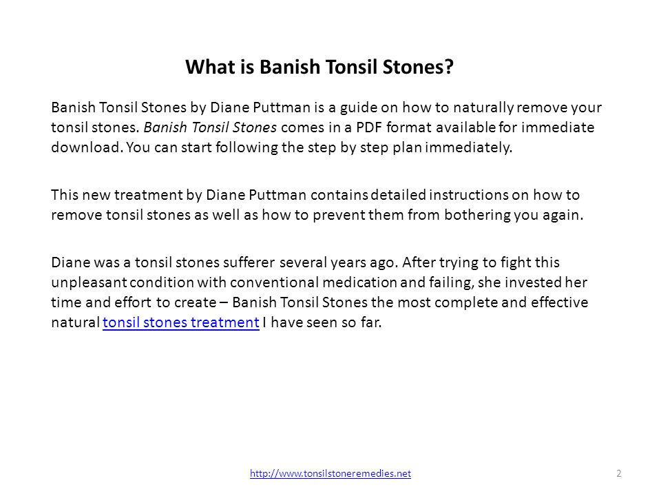 7 easy steps to eliminate tonsil stones pdf