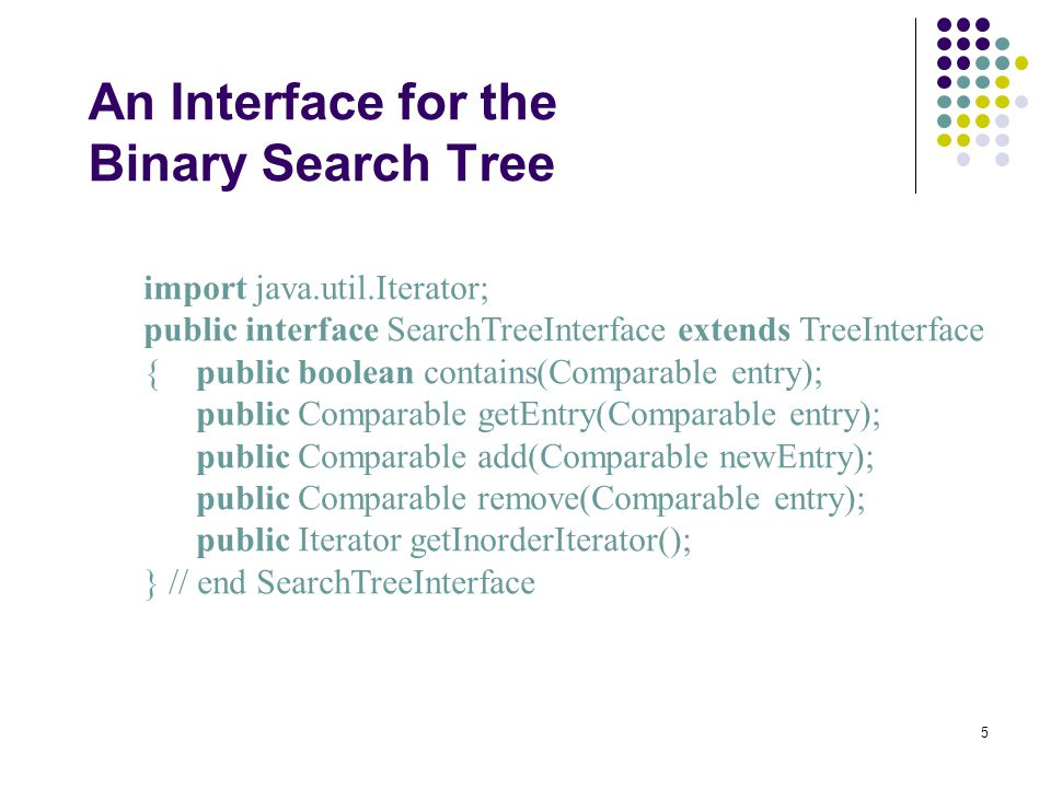 A Binary Search Tree Implementation Chapter Chapter Contents