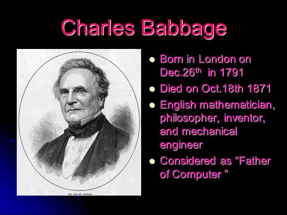 charles babbage life history