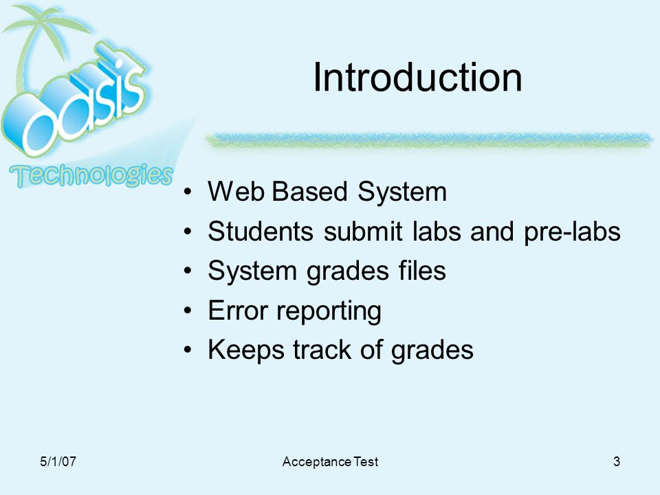 introduction of grading system