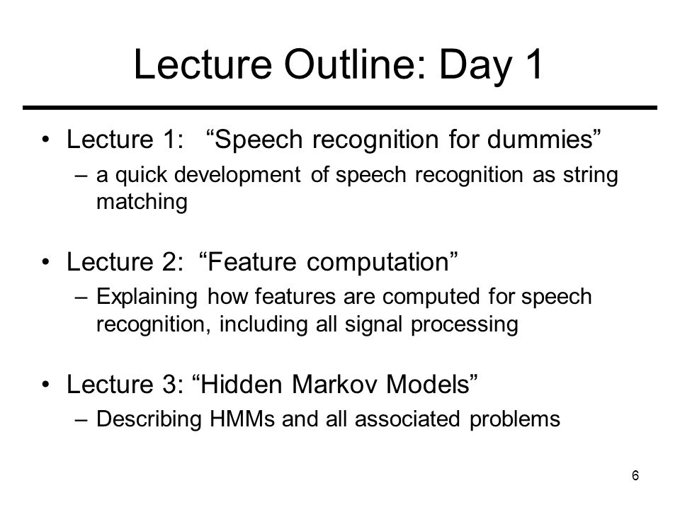 Almost-Spring Short Course on Speech Recognition Instructors