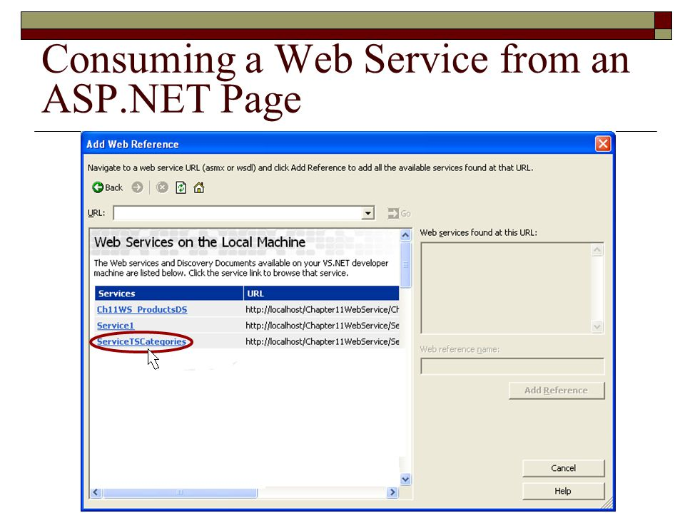XML Web Services ASP NET  Overview of Web Services (Page 1) Web