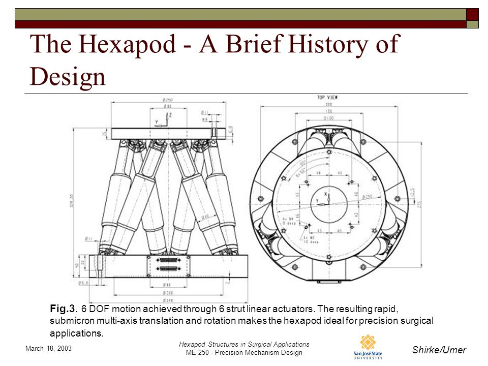 Hexapod Structures in Surgical Applications Presented by
