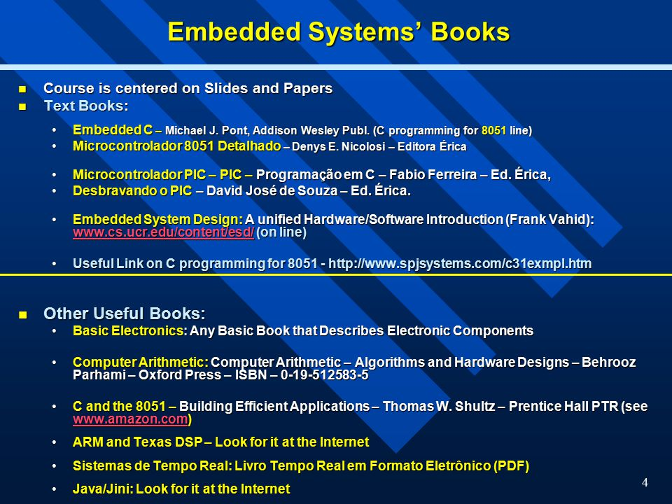 1 Introduction to Embedded Systems Manuel Lois Anido Federal