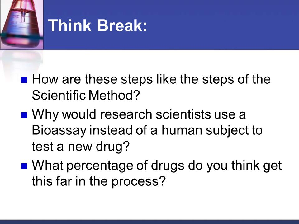 Think Break: How are these steps like the steps of the Scientific Method.