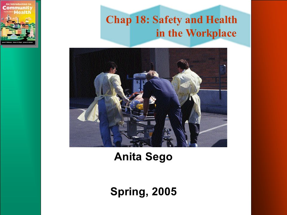 Chap 18: Safety and Health in the Workplace Anita Sego Spring, 2005