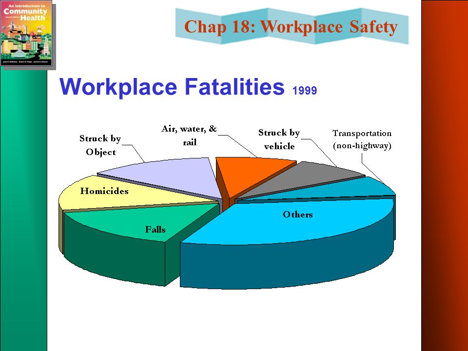 Chap 18: Workplace Safety Workplace Fatalities 1999