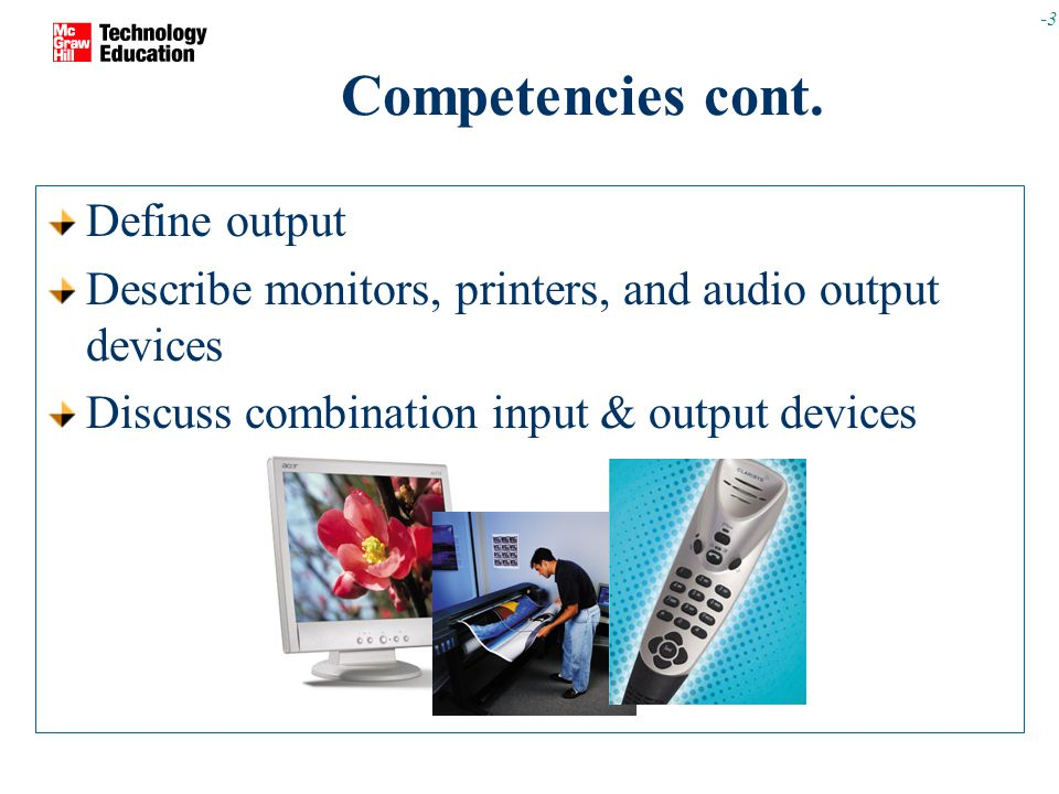 -3 Competencies cont.