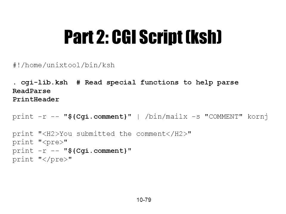 10 79 Part 2 CGI Script Ksh Home