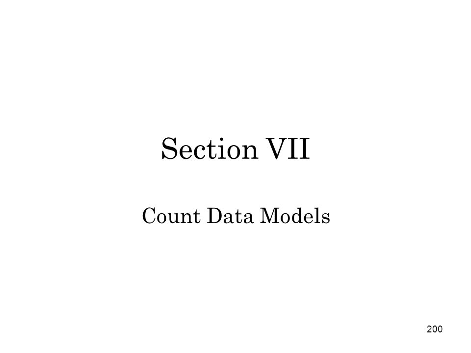200 Section VII Count Data Models