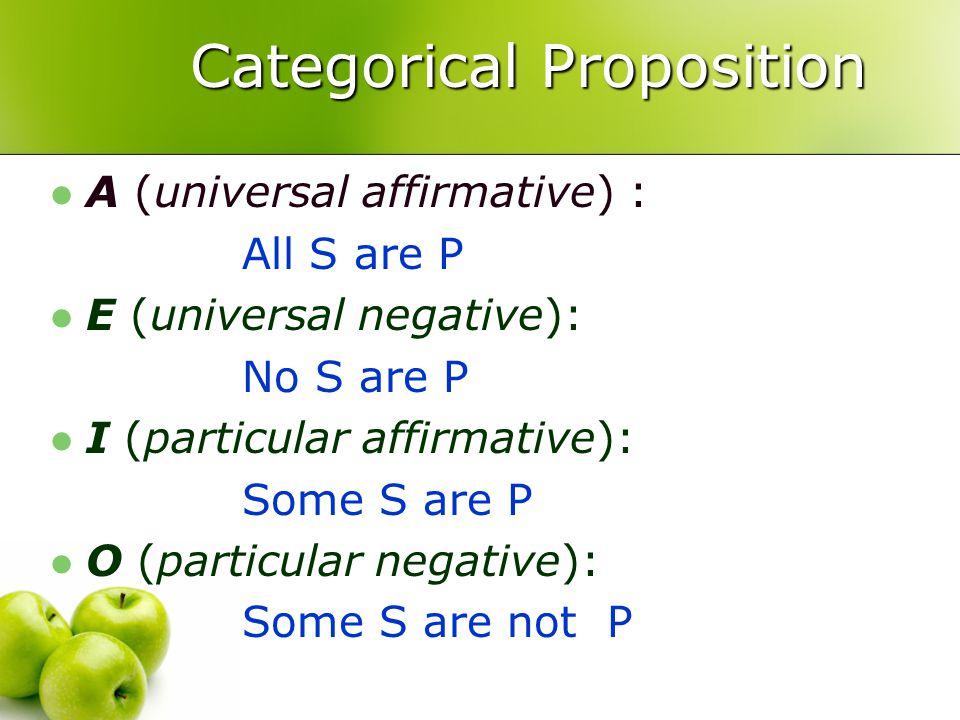 Syllogistic Logic 1 C Categorical Propositions 2 V Venn Diagram 3