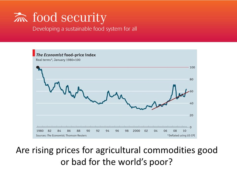 Are rising prices for agricultural commodities good or bad for the world's poor