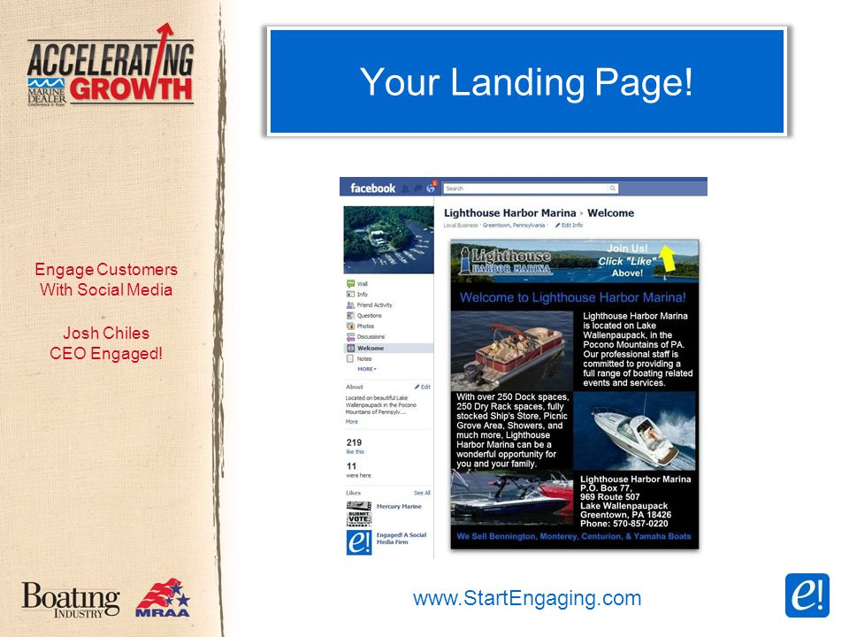 Engage Customers With Social Media Your Landing Page.