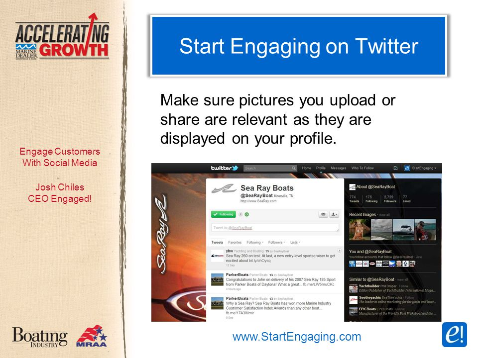 Engage Customers With Social Media Start Engaging on Twitter Josh Chiles CEO Engaged.