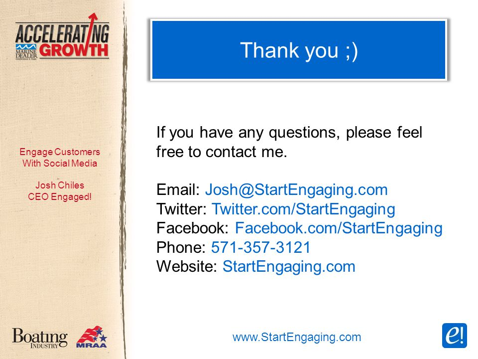 Engage Customers With Social Media Josh Chiles CEO Engaged.