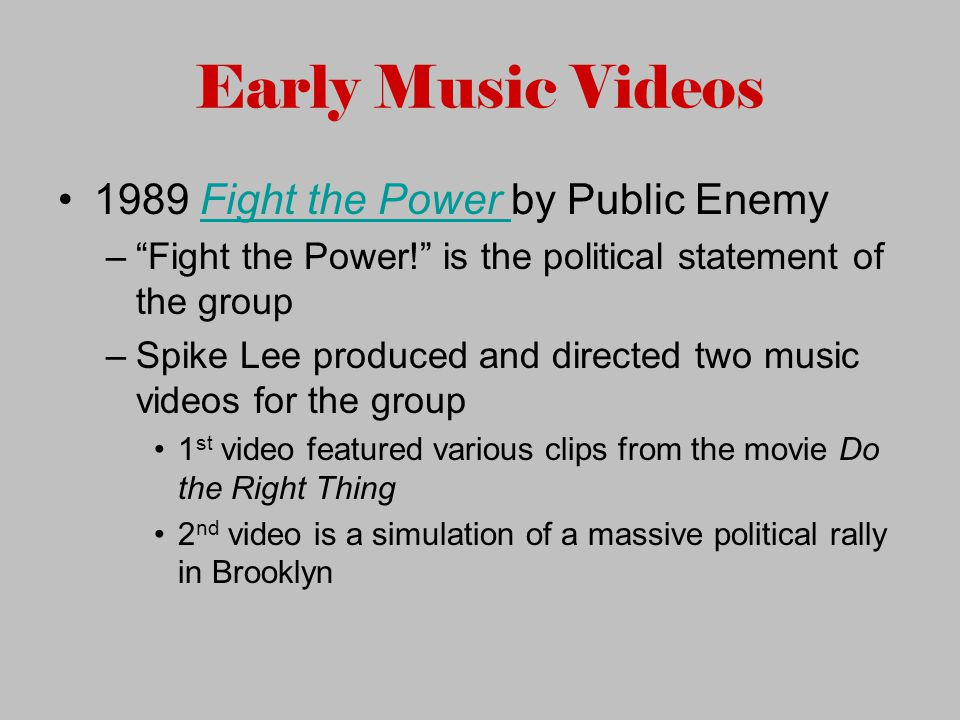fight the power music video
