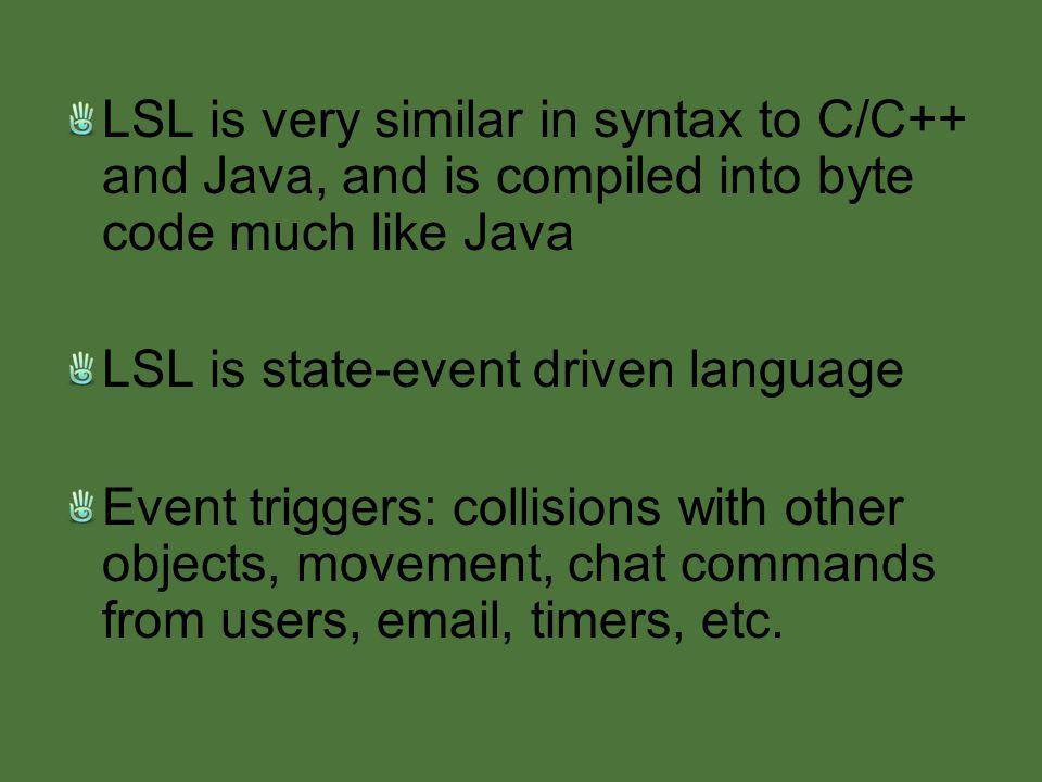 LSL: Linden Scripting Language Andrew Orr 12/17/ ppt download
