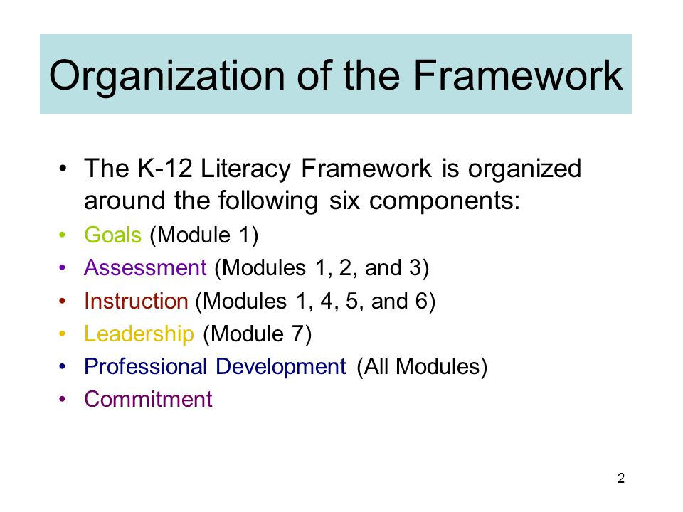 1 Oregon K-12 Literacy Framework and K-3 Statewide Outreach