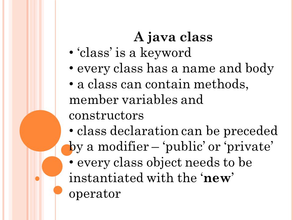 What is a class a class definition is a blueprint to build objects 2 a malvernweather Images