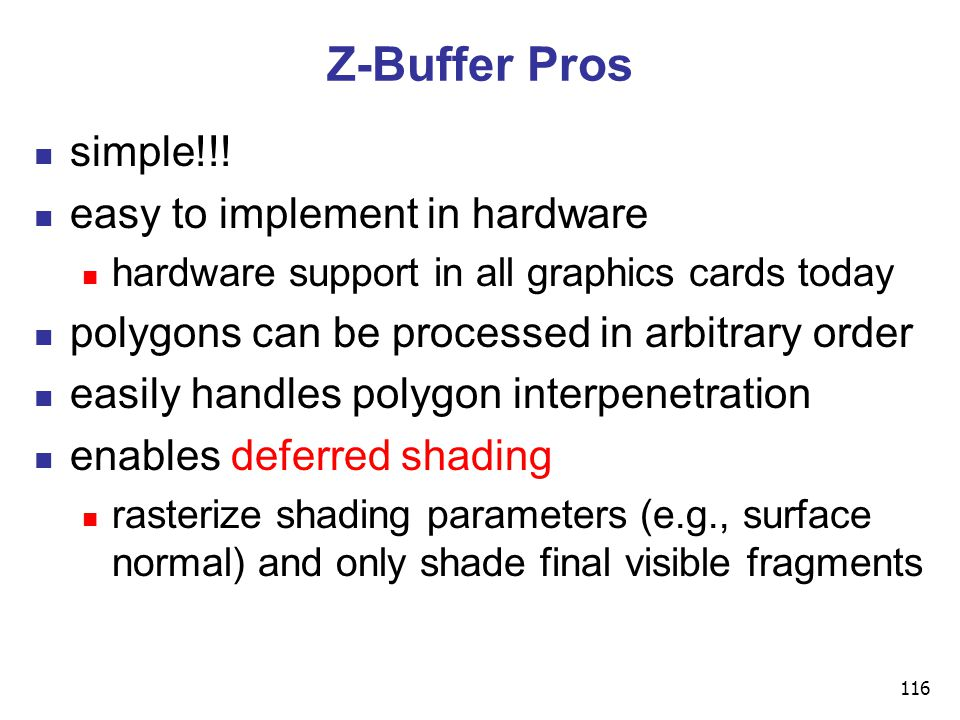 116 Z-Buffer Pros simple!!.