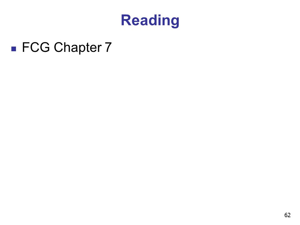 62 Reading FCG Chapter 7