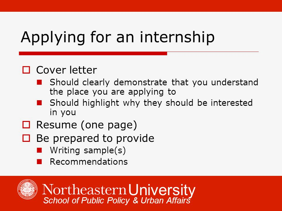 Finding Internships and Fellowships In Public Policy and Urban ...