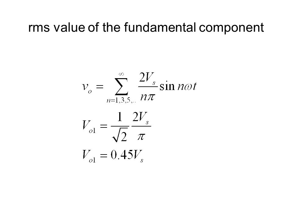 rms value of the fundamental component