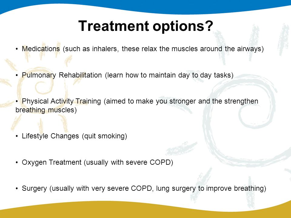 Treatment options.