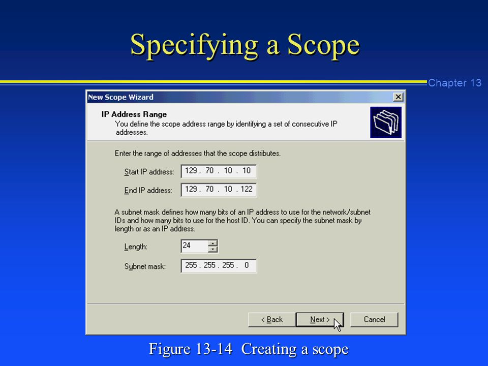 Chapter 13 Specifying a Scope Figure Creating a scope
