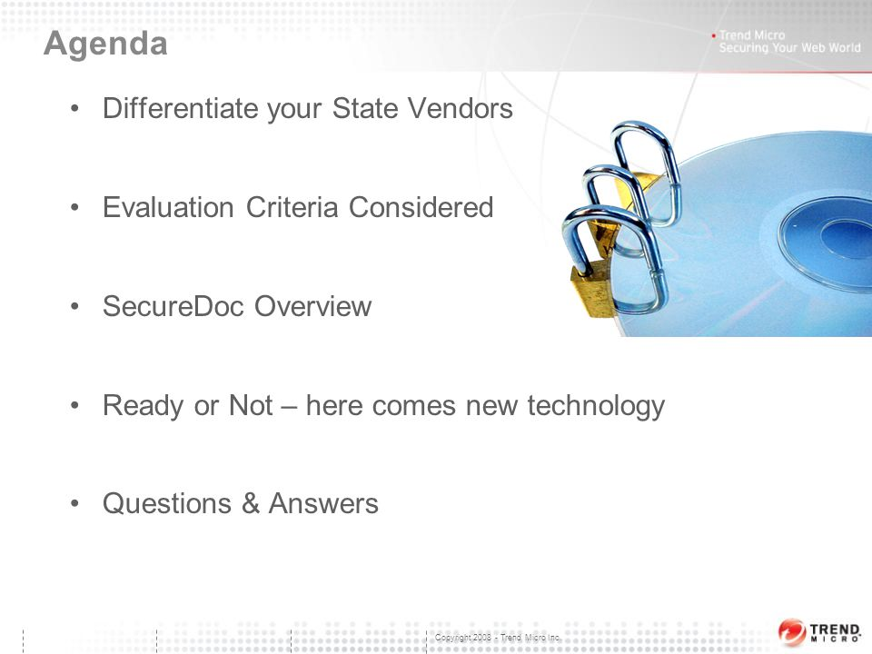 Trend Micro Data-at-Rest Solution SecureDoc Solution Presentation