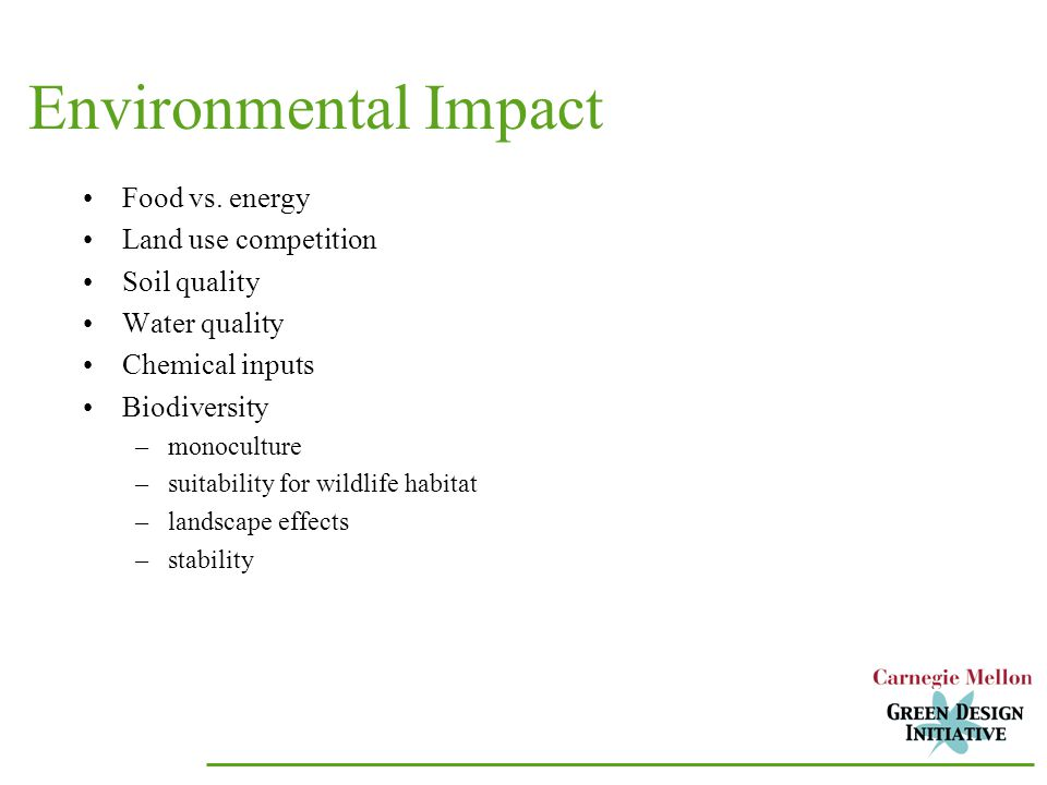 Environmental Impact Food vs.
