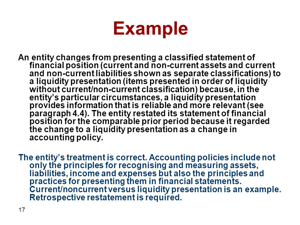1 accounting policies estimates and errors 2 scope of this section