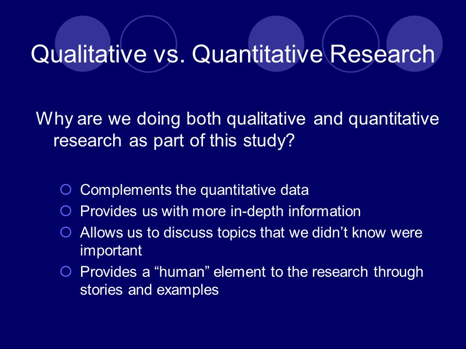 Qualitative vs.