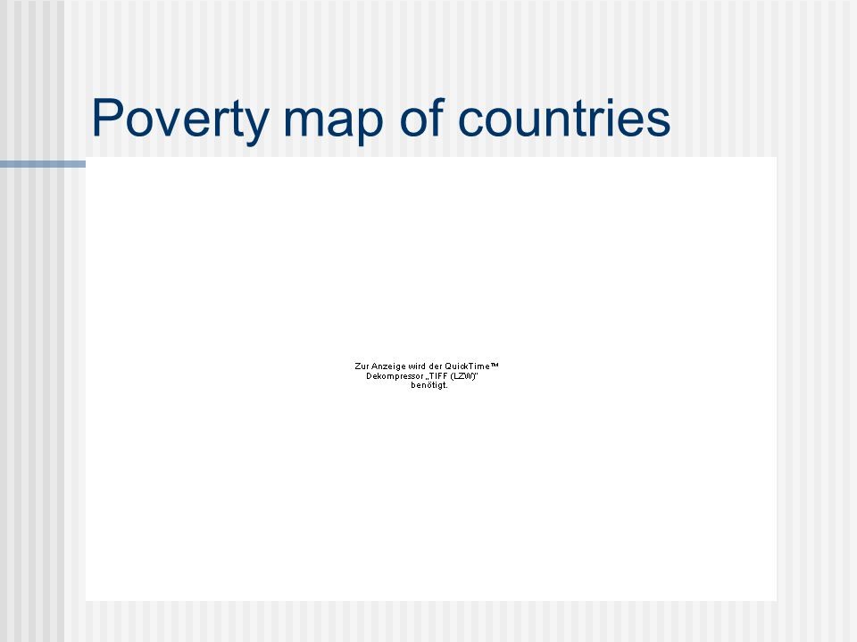 Poverty map of countries