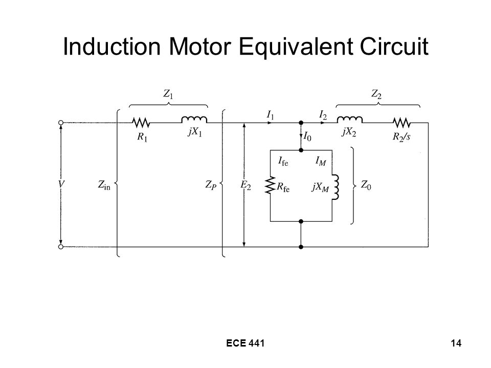 ECE Induction Motor Equivalent Circuit