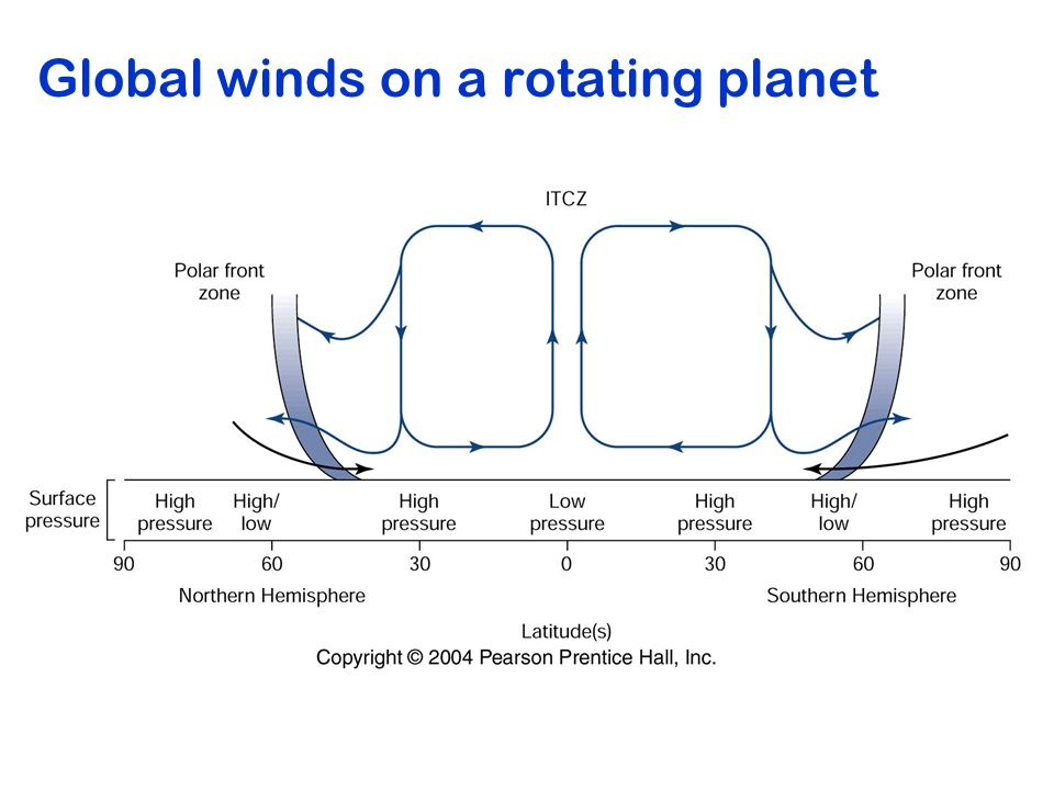Global winds on a rotating planet