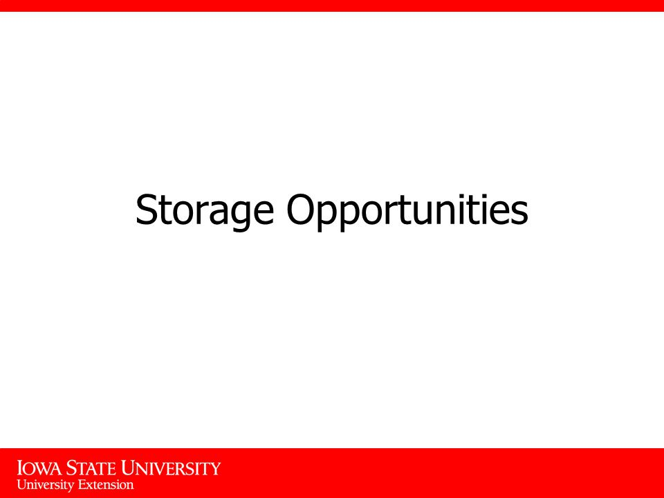 Storage Opportunities