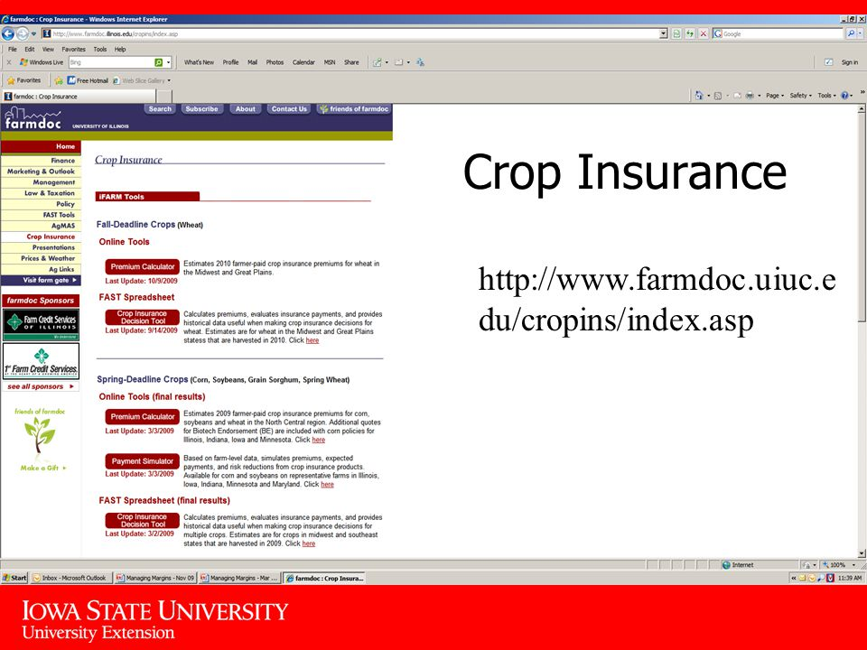 Crop Insurance   du/cropins/index.asp