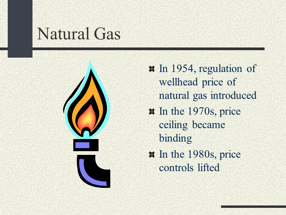 examples of price controls price controls and natural gas shortages