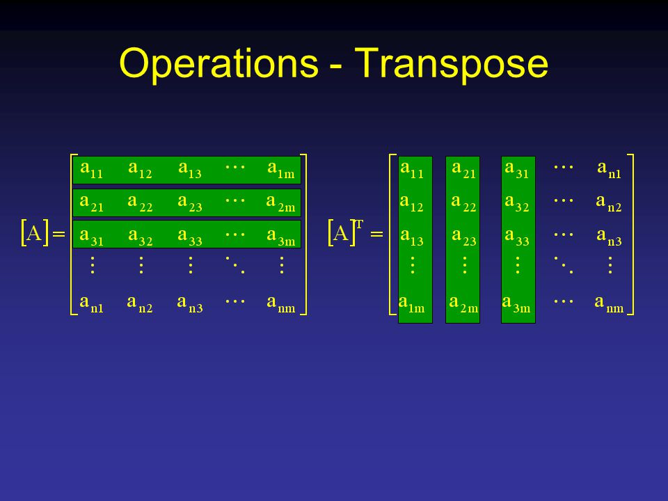 Operations - Transpose